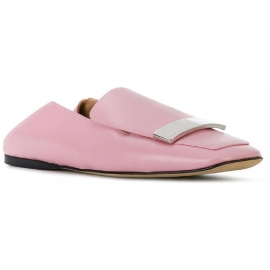 Sergio Rossi Damen Mokassins in rosa Leder