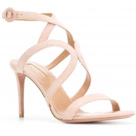 Aquazzura High Heel Sandaletten aus pinkem Wildleder