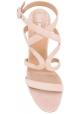 Aquazzura Sandaletten aus hellrosa Wildleder