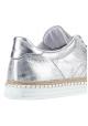 Hogan niedrige Sneakers für Damen aus silberfarbenem Metallic-Leder