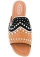 Sandalen von Tod's Flats für Damen aus braunem Leder