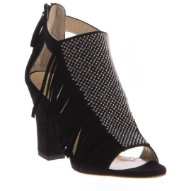 Giuseppe Zanotti Sandaletten aus schwarzem Wildleder