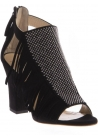 Zanotti Sandaletten aus schwarzem Veloursleder