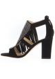 Giuseppe Zanotti Sandaletten aus schwarzem Veloursleder