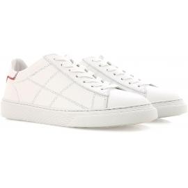 Hogan Low Top Damen Sneakers Schuhe aus weißem Leder