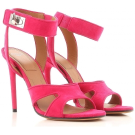 Givenchy High Heel Sandaletten aus fuchsiafarbenem Wildleder