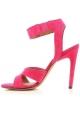 Givenchy Sandalen mit Absatz und Absatz aus Wildleder Fuxia