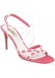 Valentino High Heel Sandaletten aus pinkem Wildleder