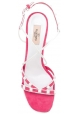 Valentino Sandalen mit hohem Absatz und hohem Absatz aus rosa Wildleder