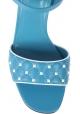 Valentino Sandalen mit hohem Absatz aus hellblauem Leder