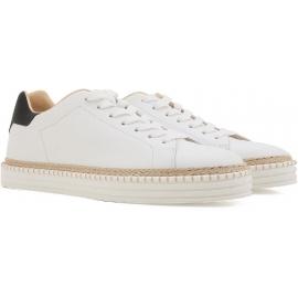 Hogan Herren-Sneakers mit niedrigem Absatz aus weißem Leder