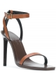 Saint Laurent High Heel Sandalen aus braunem Leder