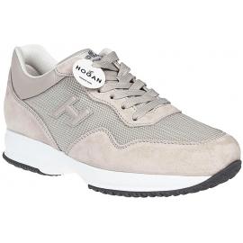Hogan Interactive Herren Sneakers Schuhe aus beigem Wildleder