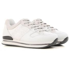 Hogan Low-Sneakers für Damen aus weißem Leder