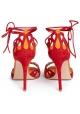 Gianvito Rossi - Samba - Sandalen mit hohem Absatz aus rotem Wildleder