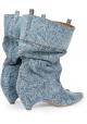 Stella McCartney Damen Stiefeletten in mittlerer Wade aus Jeansstoff