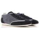 Hogan Herren sneakers in grau und blau Wildleder