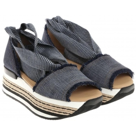 Hogan Frauen Sandalen aus Denim Canvas