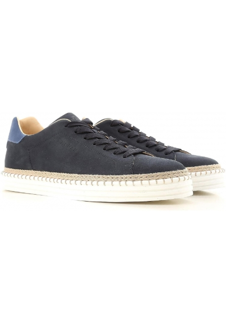 Hogan mann Sneakers R206 in blau leder