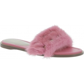 Valentino Hausschuhe aus rosa leder und plez