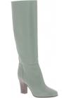 Valentino Damen Kniehohe Stiefel aus olivgrünem Leder