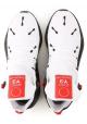 Y-3 Sneaker herren aus weißem technischen Stoff mit schwarzer Gummisohle