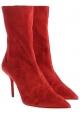 Aquazzura Damen Stiefeletten aus Wildleder in rot Wildleder mit Stöckelabsatz