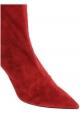 Aquazzura Damen Stiefeletten aus Wildleder in Rosa Wildleder mit Stöckelabsatz