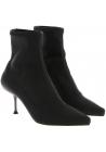 Sergio Rossi Stiefeletten für Damen aus schwarzem Stoff mit Metallic-Absatz