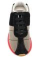 Marni Sneaker für Damen aus beigem Stoff mit hoher roter Gummisohle