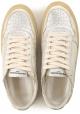 Philippe Model Damen-Sneaker aus platiniertem laminiertem Leder mit Vintage-Sohle