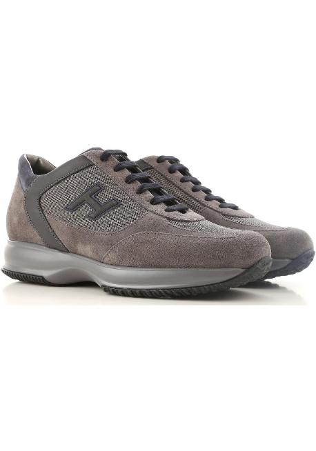 brand new 606ca ac7a0 Hogan interactive Herren Sneakers aus braunem Leder und grauem Stoff