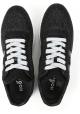 Hogan Damen Sneakers aus schwarzem Glitzer effekt leder und Stoff