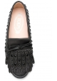 Tod's Damen Mokassins aus schwarzem Leder mit passenden Nieten