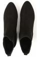 Hogan Damen Stiefeletten mit Absatz aus schwarzem Wildleder