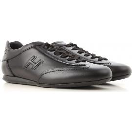 Hogan OLYMPIA SLASH Herren Sneakers aus schwarzem Leder