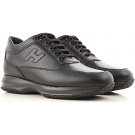 Hogan INTERACTIVE Hohe Sneakers für Herren aus schwarzem Leder