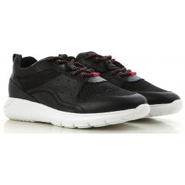 Hogan INTERACTIVE3 Herren Sneakers aus schwarzem Leder und weißer Gummisohle