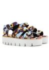 MSGM wedges Sandalen Schuhe im multicolor Stoff