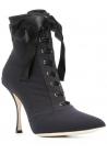 Dolce&Gabbana Stiefel mit Absatz für Frauen In schwarzem technischen Stoff