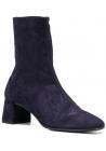 Aquazzura Stiefeletten mit quadratische Ferse für Frauen aus blauem Wildleder