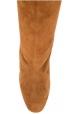 Aquazzura Mitte waden stiefel mit ferse für Frauen aus hellbraunem wildleder