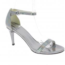 Stuart Weitzman Stiletto absatz sandalen für Frauen in laminiertes kalbsleder