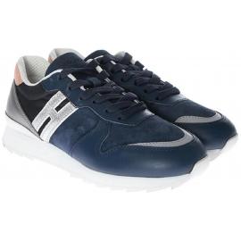 Hogan niedrige Sneakers für Damen aus blauem Leder
