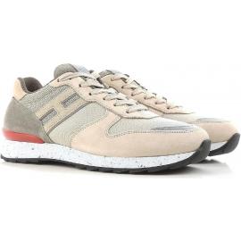 Hogan Herren-Sneakers aus Leder in Beige
