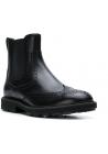 Tod's Stiefeletten für Männer aus schwarzem glänzendem Leder mit Brogue