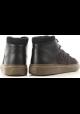 Hogan H365 Hohe Sneakers für Herren aus dunkel braunem Nubuk leder