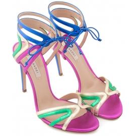 Casadei Stiletto sandalen für Frauen aus Multi-Color laminiert Kalbsleder