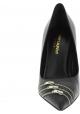 Saint Laurent Spitze Pumps schuhe elegant für Frauen aus schwarzem leder