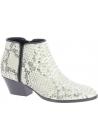 Giuseppe Zanotti Stiefeletten westliche Ferse für Damen in platin pythonleder